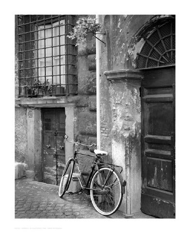 Bicycle by the Door, Rome Photography by Igor Maloratsky - FairField Art Publishing
