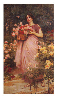 In a Garden of Roses by Richard Willes Maddox - FairField Art Publishing
