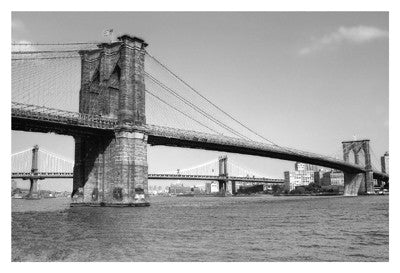 Brooklyn Bridge and Manhattan Bridge, Day Architecture by Phil Maier - FairField Art Publishing