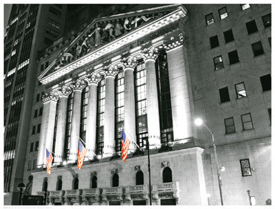 New York Stock Exchange at Night