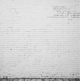 White Brick Wall & Wood Floor Photography Backdrop