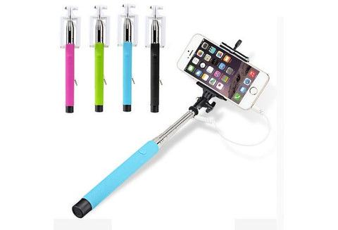 Wired Selfie Stick - Monopod for Smartphone