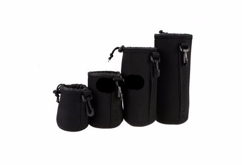 Neoprene Lens Protector Carrying Pouch 4-PACK