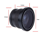 52mm 0.35x Fisheye Wide Angle Lens