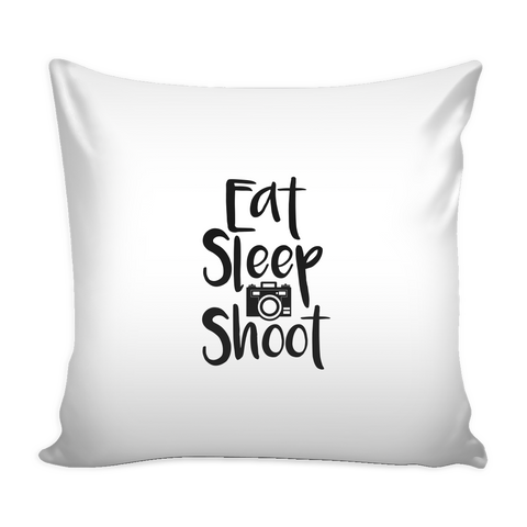 'Eat Sleep Shoot' Custom Pillow Case