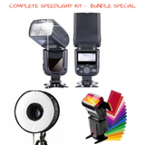 Complete Speed Light Photography Light Kit For Photo Shoot