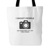 'Shoot People' Photographer Custom Tote Bags