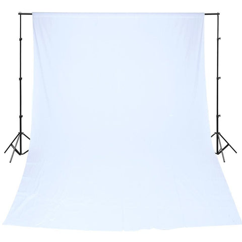 White Backdrop Cloth w/ Sewn-In Rod Pocket (3 sizes available)