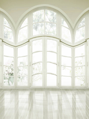 White Windows Wedding Photography Studio Backdrop.