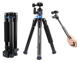 Benro Aluminum Tripod, Monopod, Selfie Stick Kit For Mobile And Camera