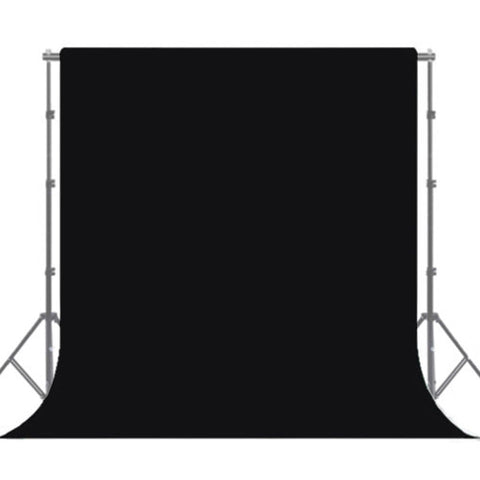 Black Backdrop Cloth W/ Sewn-in Rod Pocket For Photography