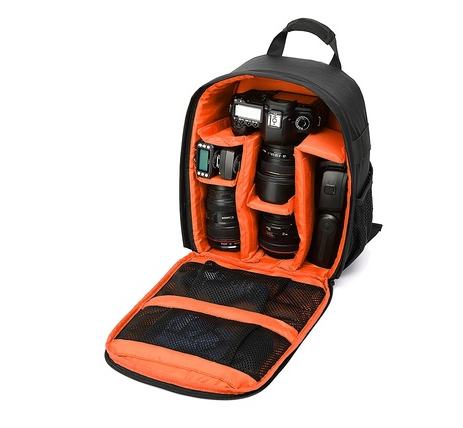 Digital DSLR Camera Backpack Carrying Case