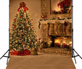 Christmas Tree & Fireplace Photography Studio Backdrop