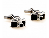 Stainless Steel Men's Camera Cufflinks Perfect For Gift, Or For Photographer Shooting