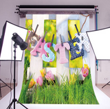 Easter Hanging Letters Seasonal Photography Studio Backdrop