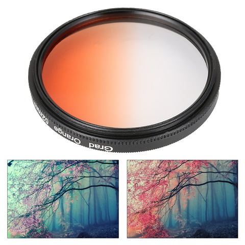 ~Graduated Color Lens Filter Kit Package (6 colors, cleaning cloth & shockproof filter bag) 52mm & 58mm