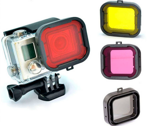 Professional 4 In 1 Diving Housing Filter For Gopro