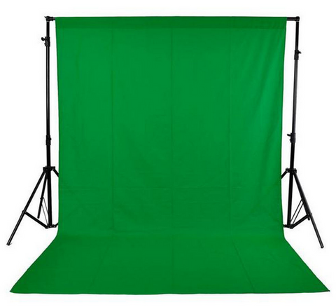 Green Backdrop Cloth w/ Sewn-In Rod Pocket (3 sizes available)