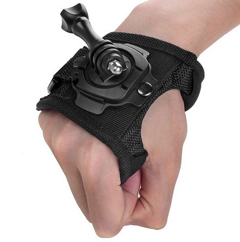 Swivel Glove 360-degree Hand Wrist Strap Mount For Go Pro Camera