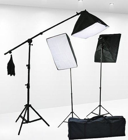 High Quality Ultimate Photo Studio Complete 3-point Lighting Kit