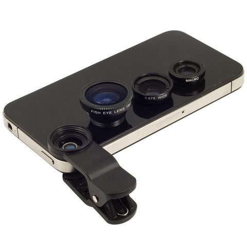 Universal Clip-on Smart Phone Lens(Wide Angle Lens, Macro Lens, Fish Eye Lens) For Mobile Phones