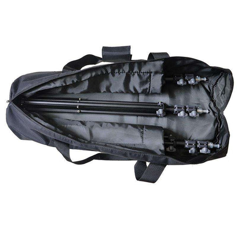 Black Padded Light Stand Tripod With Carrying Bag Case