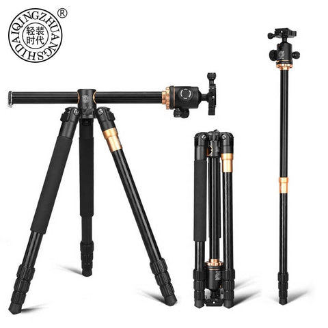 Professional Camera Tripod Aluminium Alloy Video Tripod With Quick Release Plate
