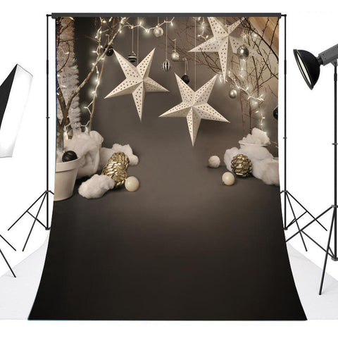 Starry WinterLuxe Christmas Ornaments Photography Studio Backdrop