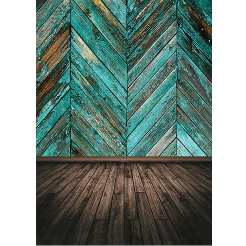 Turquoise Wooden Panels Photography Studio Backdrop