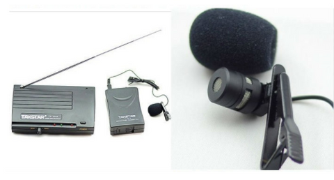 Wireless Lavaliere Microphone Set For Recording Any Audio