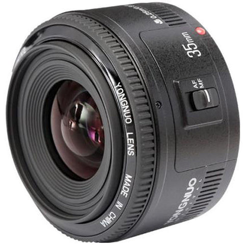 Yongnuo 35mm f/2 AF/MF Wide-Angle Fixed/Prime Aperture Lens for Canon EF Mount