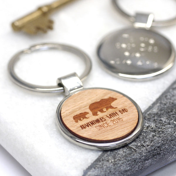 Personalised Adventures With Dad Keyring