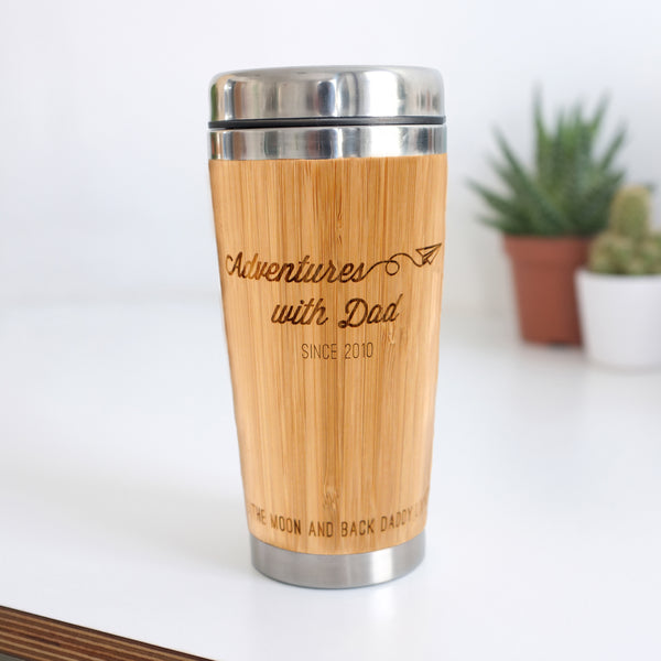 Personalised Adventures With Dad Travel Mug