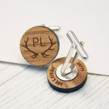 Personalised Antler Secret Message Cufflinks
