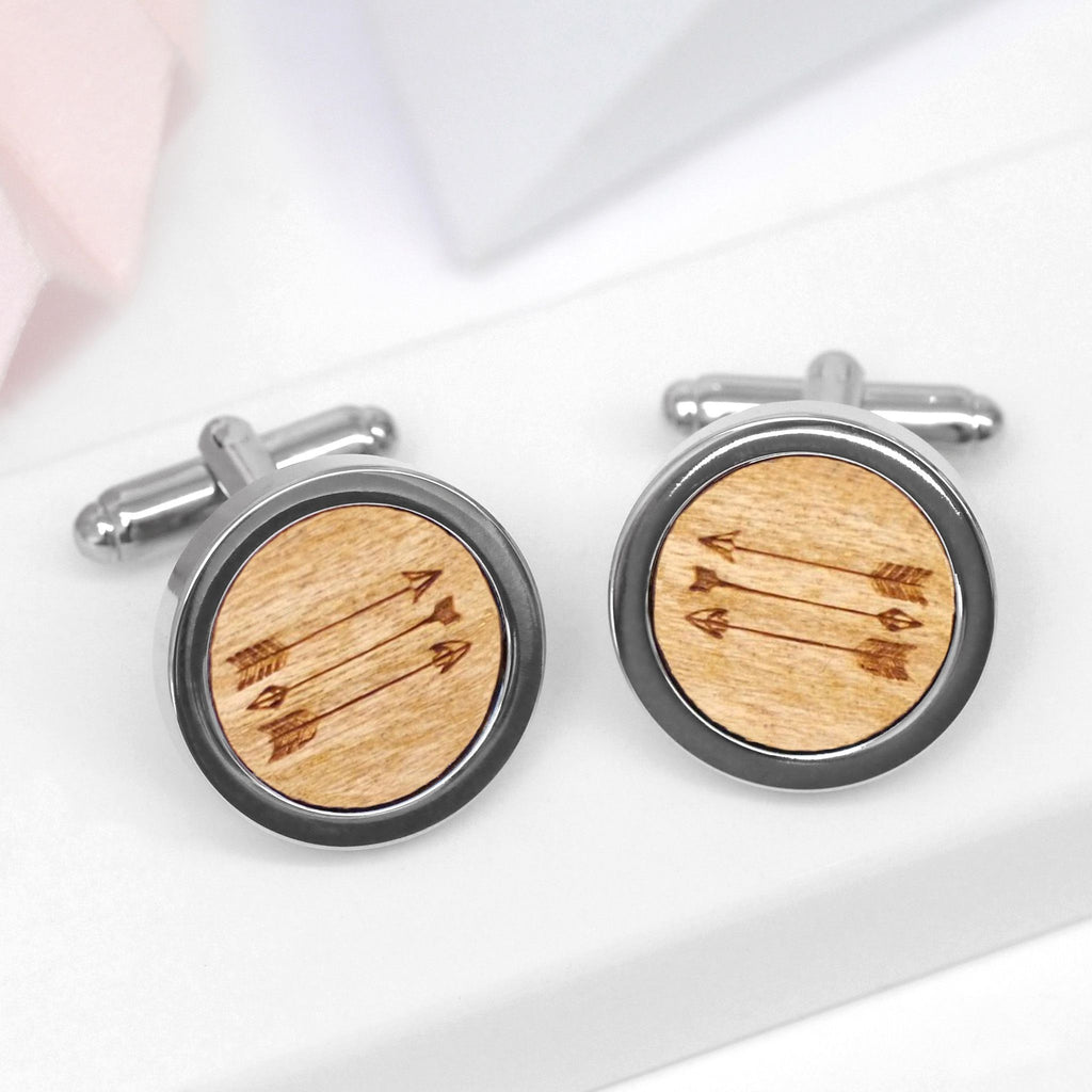 Wooden Arrow Cufflinks