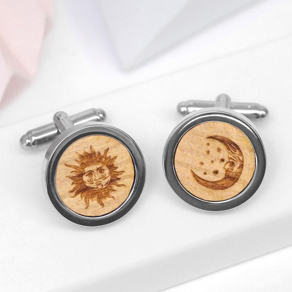 Wooden Astrology Cufflinks
