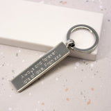 Personalised Coordinate Bar Keyring