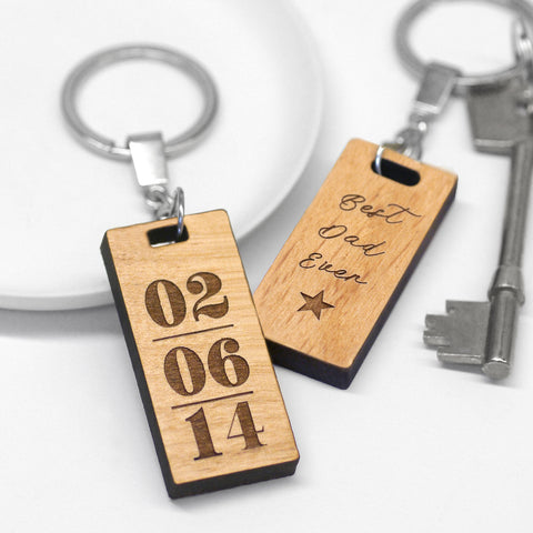 Personalised Best Dad Ever Keyring