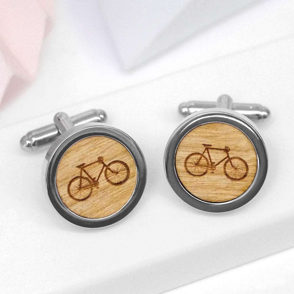 Personalised Bicycle Cufflinks