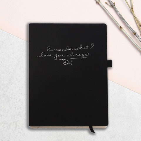 Personalised Handwritten Message Notebook