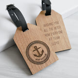 Personalised Bon Voyage Luggage Tag