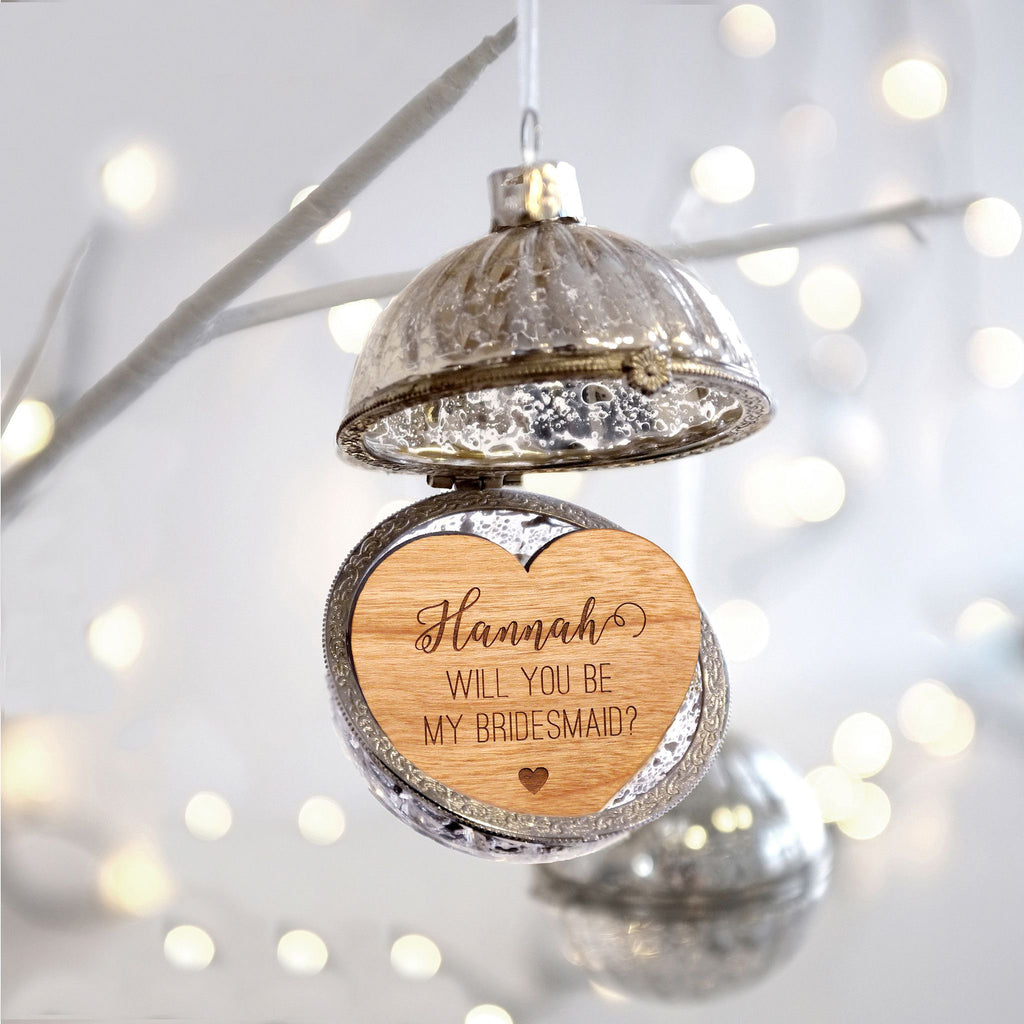 Personalised opening glass bauble
