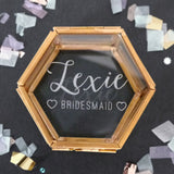 glass box bridesmaid gift