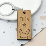 Personalised Bunny Name Keyring