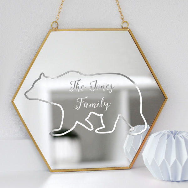 Personalised Polar Bear Mirror