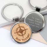 Personalised Compass Keyring