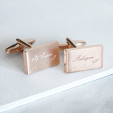 Engraved Paper Plane Destination Cufflinks