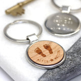 Personalised Footprint Keyring