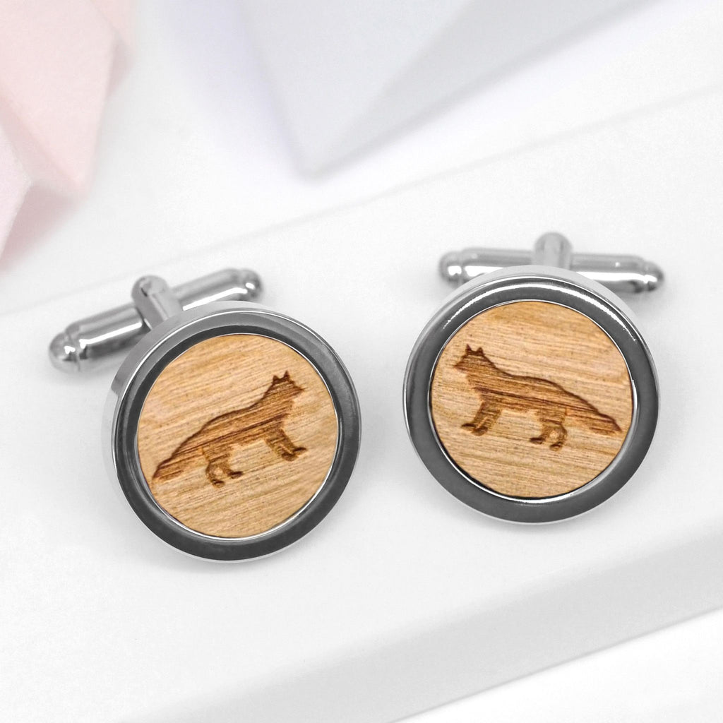 Wooden Fox Cufflinks