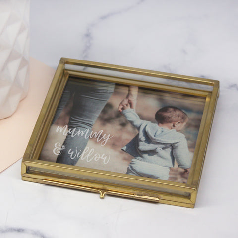 Mummy and Me Glass Square Photo Tray